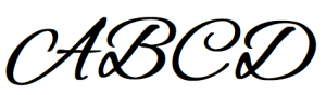 basic typograhy - script