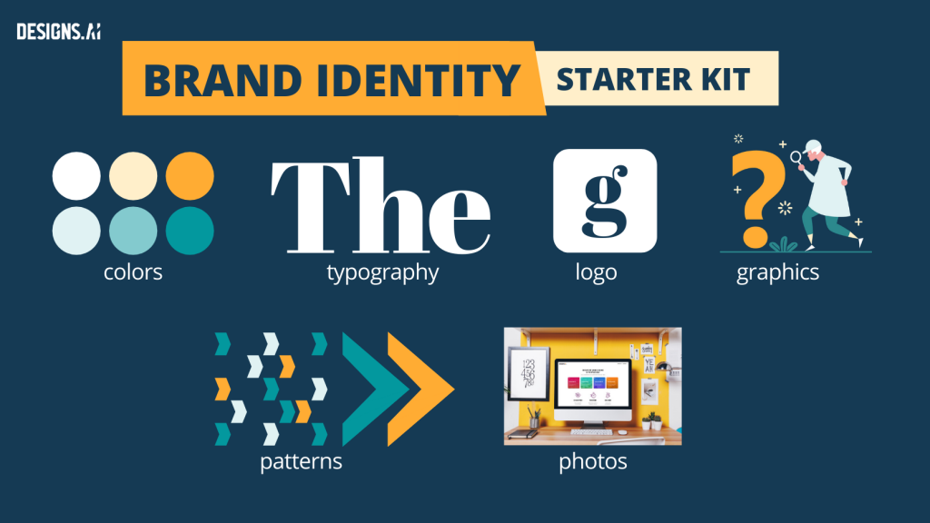 5-Step Guide To Building A Strong, Memorable Brand Identity For Your Small Business | Designs.ai | Brand identity starter kit