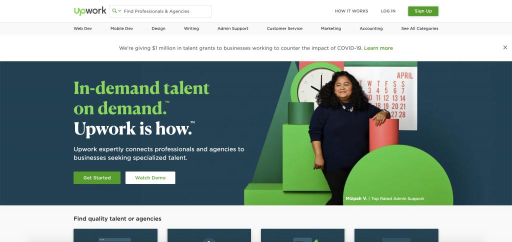 Upwork website screenshot