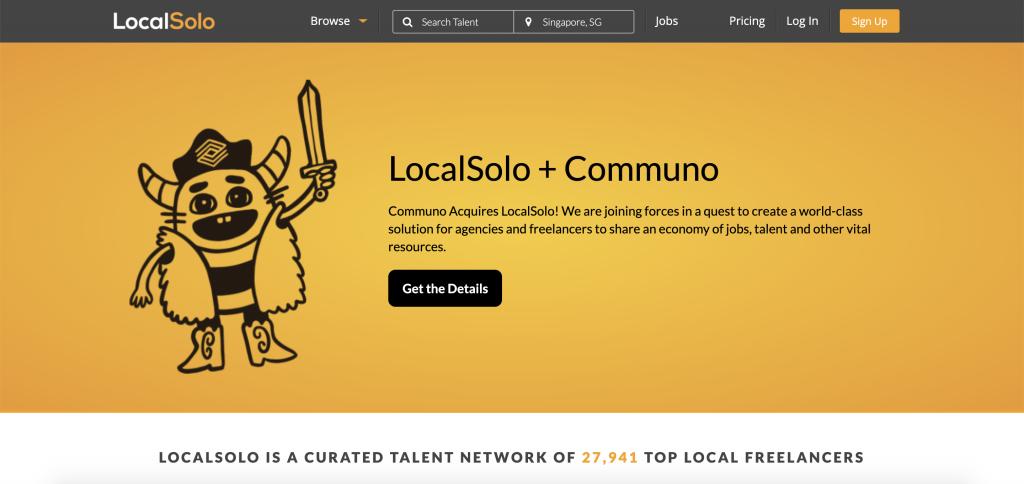 LocalSolo Homepage. (Source: LocalSolo.com)