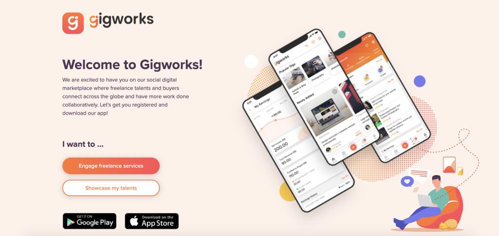 Gigworks Homepage. (Source: Gigworks.com)