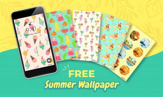 Designs.ai | Freebie Alert | Free Summer Themed Smartphone Wallpapers