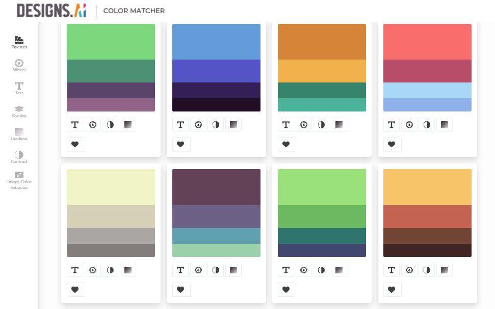 designs.ai, color matcher