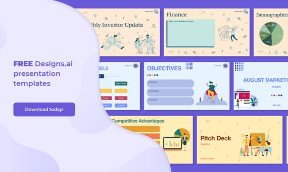 Freebie Designs.ai presentation templates Graphicmaker