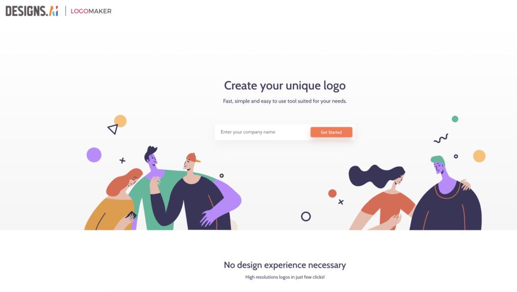 Designs.ai Logomaker screenshot