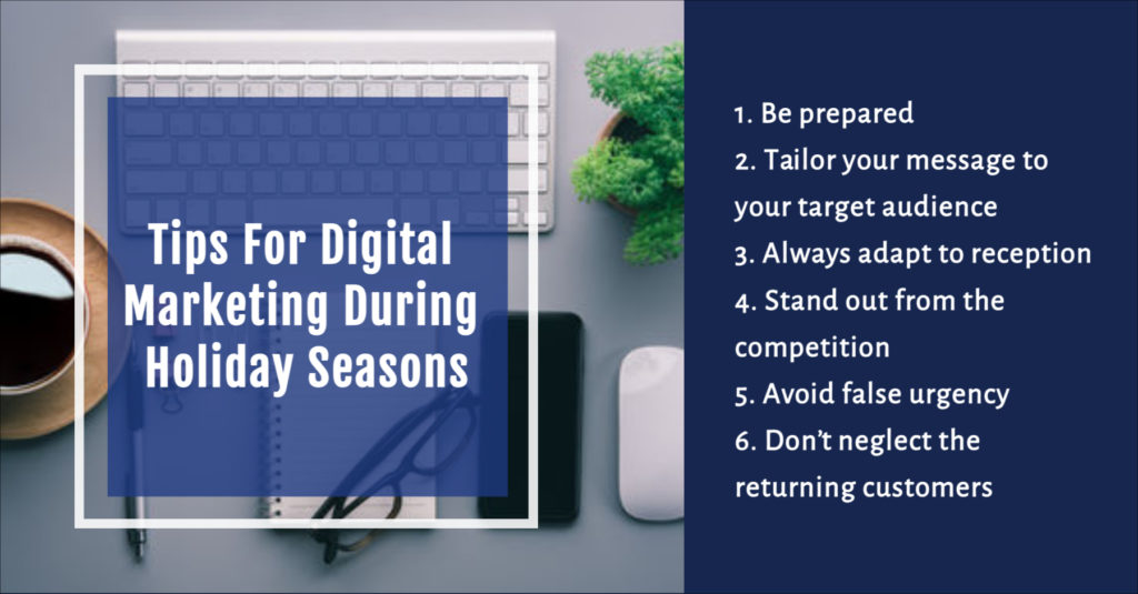Tips for digital marketing during holiday seasons