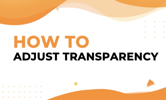 How to adjust transparency in Designmaker?