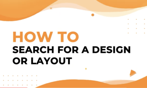 How to search for a design or layout in Designmaker?
