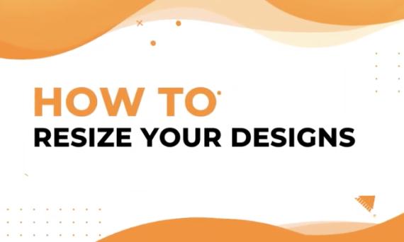 Designmaker instant resize design