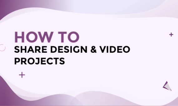 Designs.ai - How to share your video and design projects in Designs.ai?