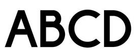 basic typography - geometric