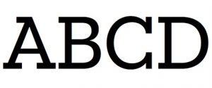 basic typograhy - slab serif